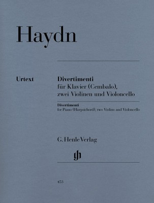 Divertimenti For Piano (Harpsichord) - Joseph Haydn - Piano|Cello|Violin G. Henle Verlag Piano Quartet Parts