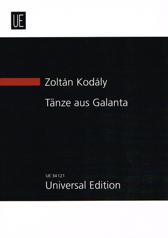 Kodaly - Dances of Galanta - Miniature/Study Score Universal Edition UE34121