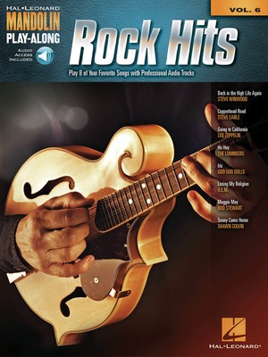 Rock Hits - Mandolin Play-Along Volume 6 - Mandolin Hal Leonard Sftcvr/Online Audio