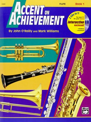 Accent on Achievement, Book 1 - Flute - John O'Reilly|Mark Williams - Flute Alfred Music /CD - Adlib Music