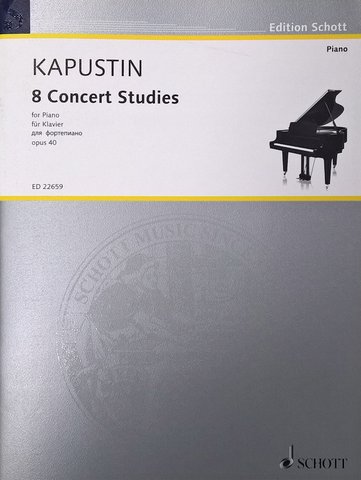 Eight Concert Studies Op. 40 - Kapustin - Piano Solo - Schott Edition