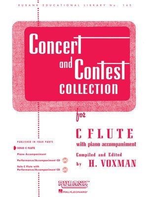 Concert and Contest Collection for C Flute - Piano Accompaniment - Various - Flute Rubank Publications Piano Accompaniment - Adlib Music