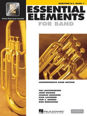 Essential Elements for Band - Book 1 with EEi - Baritone B.C. - Baritone|Euphonium Charles Menghini|Donald Bierschenk|John Higgins|Paul Lavender|Tim Lautzenheiser|Tom C. Rhodes Hal Leonard /CD-ROM - Adlib Music