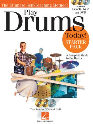 Play Drums Today! Å'_ Starter Pack - Includes Levels 1 & 2 Book/CDs and a DVD - Drums Scott Schroedl Hal Leonard Drum Notation /CD/DVD