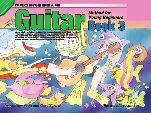 Progressive Guitar Method For Young Beginners Book 3 with Online Video & Audio - Guitar Method - Scott & Turner - Koala Publications