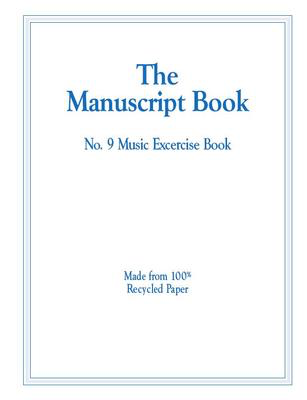 The Manuscript Book 9 - Interleaved - 9 Stave (Recycled) 26 Page Stapled - All Music Publishing - Adlib Music