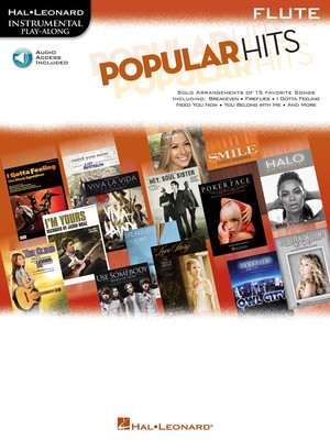Popular Hits - Instrumental Play-Along for Flute - Flute Hal Leonard /CD - Adlib Music