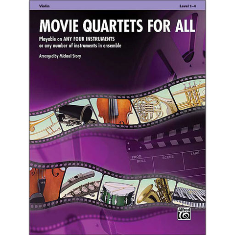 Movie Quartets for All - Violin Quartet Alfred 33545