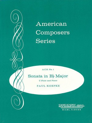 Sonata in B-flat Major - Flute Solo with Piano - Grade 4 - Paul Koepke - Flute Rubank Publications