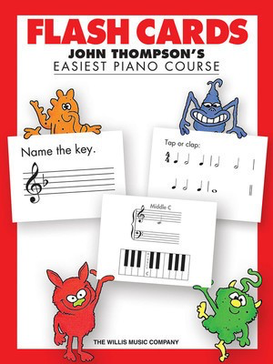 Easiest Piano Course - Flash Cards - John Thompson's Easiest Piano Course - Piano John Thompson Willis Music - Adlib Music