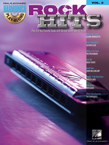 Rock Hits - Harmonica Play-Along Volume 2 - Various - Harmonica Hal Leonard /CD