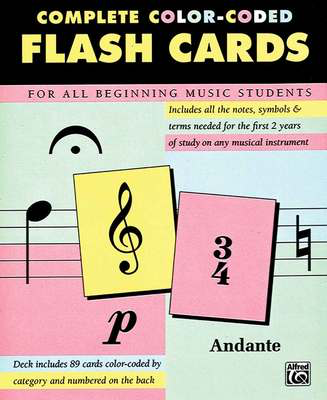 89 Color-Coded Flash Cards - Alfred Music Flash Cards - Adlib Music