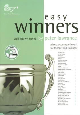 EASY WINNERS 75 FOR TRUMPET/TRBNE PIANO ACCOMP - TRUMPET - BRASS WIND