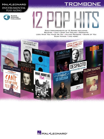 12 Pop Hits - Trombone - Online Audio - Hal Leonard
