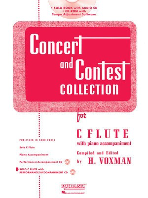 Concert and Contest Collection for C Flute - Book/CD Pack - Flute Himie Voxman Rubank Publications /CD - Adlib Music