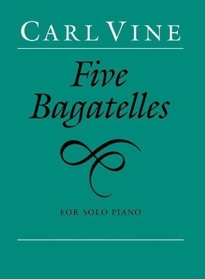 Vine - Five Bagatelles - Piano Faber Music 0571515460