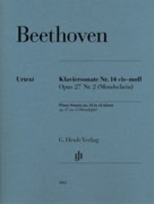"Sonata Opus 27 No 2 C Sharp Min No 14 ""Moonlight"" - Piano - Ludwig van Beethoven -  G. Henle Verlag - Piano Solo"