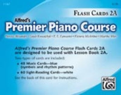 Premier Piano Course, Flash Cards 2A - Dennis Alexander|E. L. Lancaster|Gayle Kowachykl|Martha Mier|Victoria McArthur - Piano Alfred Music Flash Cards