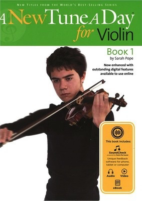 A New Tune A Day for Violin - Book 1 - (Online Audio) - Violin Sarah Pope Boston Music