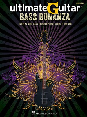 UltimateGuitar Bass Bonanza - 50 Great Rock Bass Transcriptions in Notes and TAB - Bass Guitar Hal Leonard Banjo TAB with Lyrics & Chords