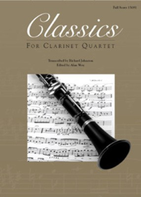 Classics For Clarinet Quartet - 1st Bb Clarinet - 3 Bb Clarinets and Bass Clarinet - Various / Johnston - Bb Clarinet|Bass Clarinet Kendor Music Clarinet Quartet Part