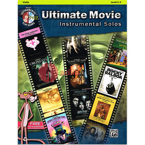 Ultimate Movie Instrumental Solos - Violin Bk/CD - Various - Alfred Music