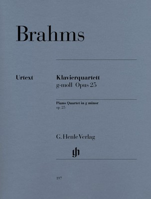 Piano Quartet No. 1 Op. 25 G minor - Johannes Brahms - Piano|Viola|Cello|Violin G. Henle Verlag Piano Quartet Parts