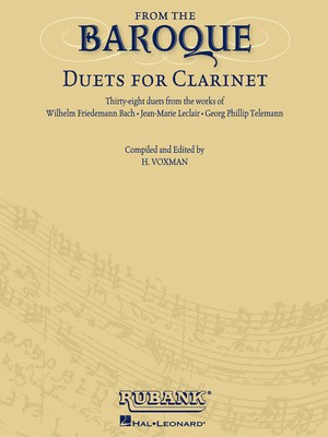 From the Baroque - Duets for Clarinet - Clarinet Rubank Publications Clarinet Duet