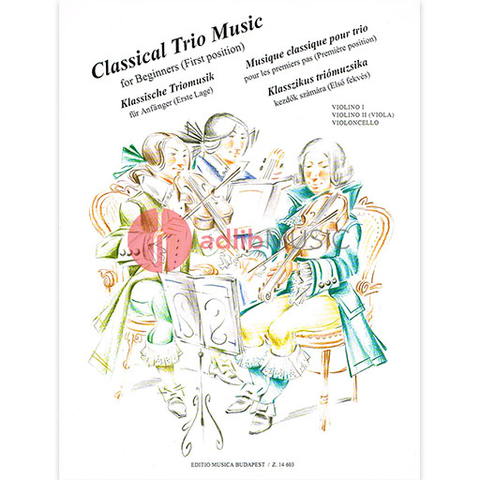 CLASSICAL TRIO MUSIC FOR BEGINNERS FOR S/TRIO - TRIOS - EMB