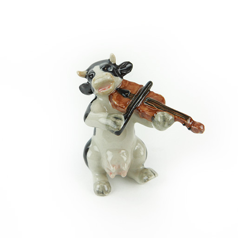 Cow Playing the Violin