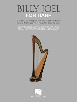 Billy Joel for Harp - 10 Selections for Lever and Pedal Harp - Harp Emily Brecker Hal Leonard