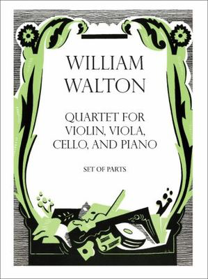 Quartet for Violin, Viola, Cello, and Piano - William Walton - Viola|Cello|Violin Oxford University Press Piano Quartet Parts