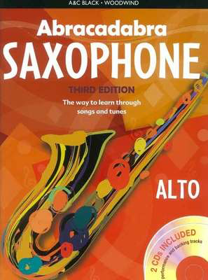 Abracadabra Saxophone 3rd Edition Book + 2CDs - The way to learn through songs and tunes - Saxophone Jonathan Rutland A & C Black /CD - Adlib Music