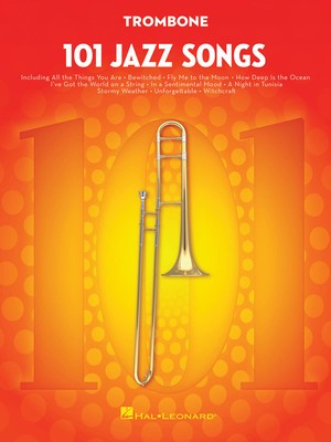 101 Jazz Songs for Trombone - Various - Trombone Hal Leonard - Adlib Music