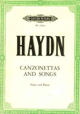35 Canzonettas And Songs - Joseph Haydn - Classical Vocal High Voice Edition Peters Vocal Score