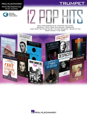 12 Pop Hits - Trumpet - Online Audio - Hal Leonard