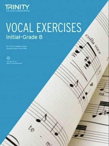Trinity Vocal Exercises 2018 Initial - Grade 8 (Book & CD)