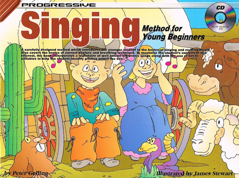 Progressive Singing Method For Young Beginners Book/Online Audio - Peter Gelling - Koala Publications