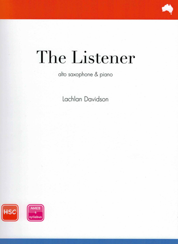 Davidson - The Listener - Alto Saxophone/Piano Accompaniment Reed Music RM260