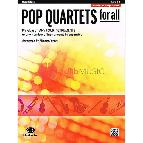 Pop Quartets for All Flute - Various - Alfred Music
