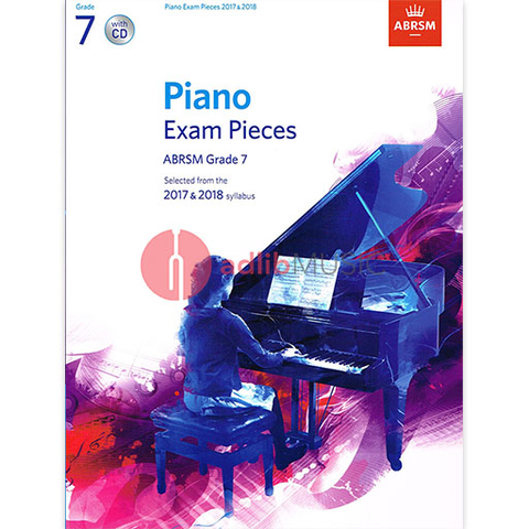 ABRSM Piano Exam Pieces 2017-2018 Grade 7 - Piano/CD ABRSM 9781848498877