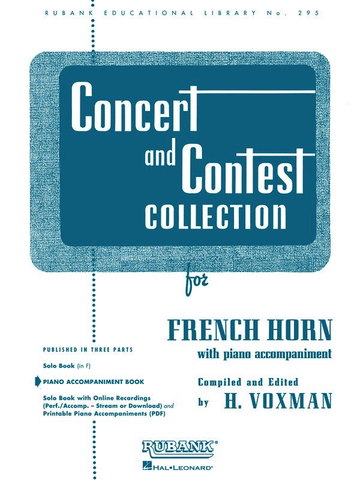 Concert and Contest Collection for French Horn - Piano Accompaniment ONLY - Various - Himie Voxman Rubank Publications