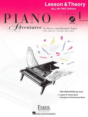 Piano Adventures All-In-Two Level 1 - Lesson & Theory Book - Nancy Faber|Randall Faber - Piano Faber Piano Adventures /CD - Adlib Music