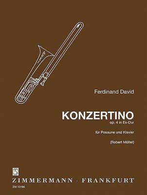 Concertino in Eb major Op. 4 - for Trombone and Piano - Ferdinand David - Trombone  Zimmermann Softcover