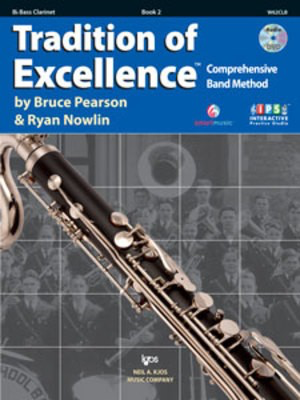 Tradition of Excellence Book 2 - Bass Clarinet - Bass Clarinet Bruce Pearson|Ryan Nowlin Neil A. Kjos Music Company /DVD