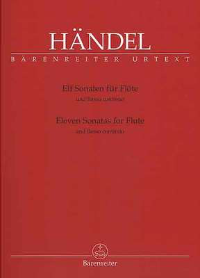11 Sonatas for Flute and Basso Continuo - George Frideric Handel - Flute|Treble Recorder Barenreiter - Adlib Music