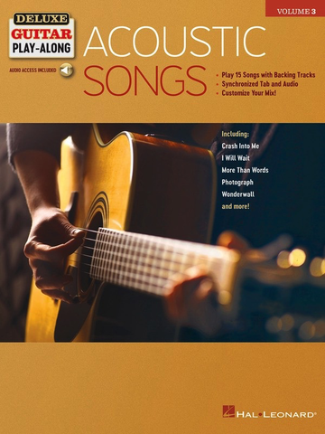 Acoustic Songs - Deluxe Guitar Play-Along Volume 3 - Guitar - Online Audio - Hal Leonard