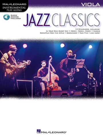 Jazz Classics for Viola Book/Online Audio - Viola - Hal Leonard