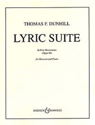 Lyric Suite Op  96 - In Five Movements - Thomas Dunhill - Bassoon Boosey &  Hawkes
