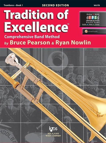Tradition of Excellence Book 1 - Trombone Part by Pearson/Nowlin Kjos W61TB